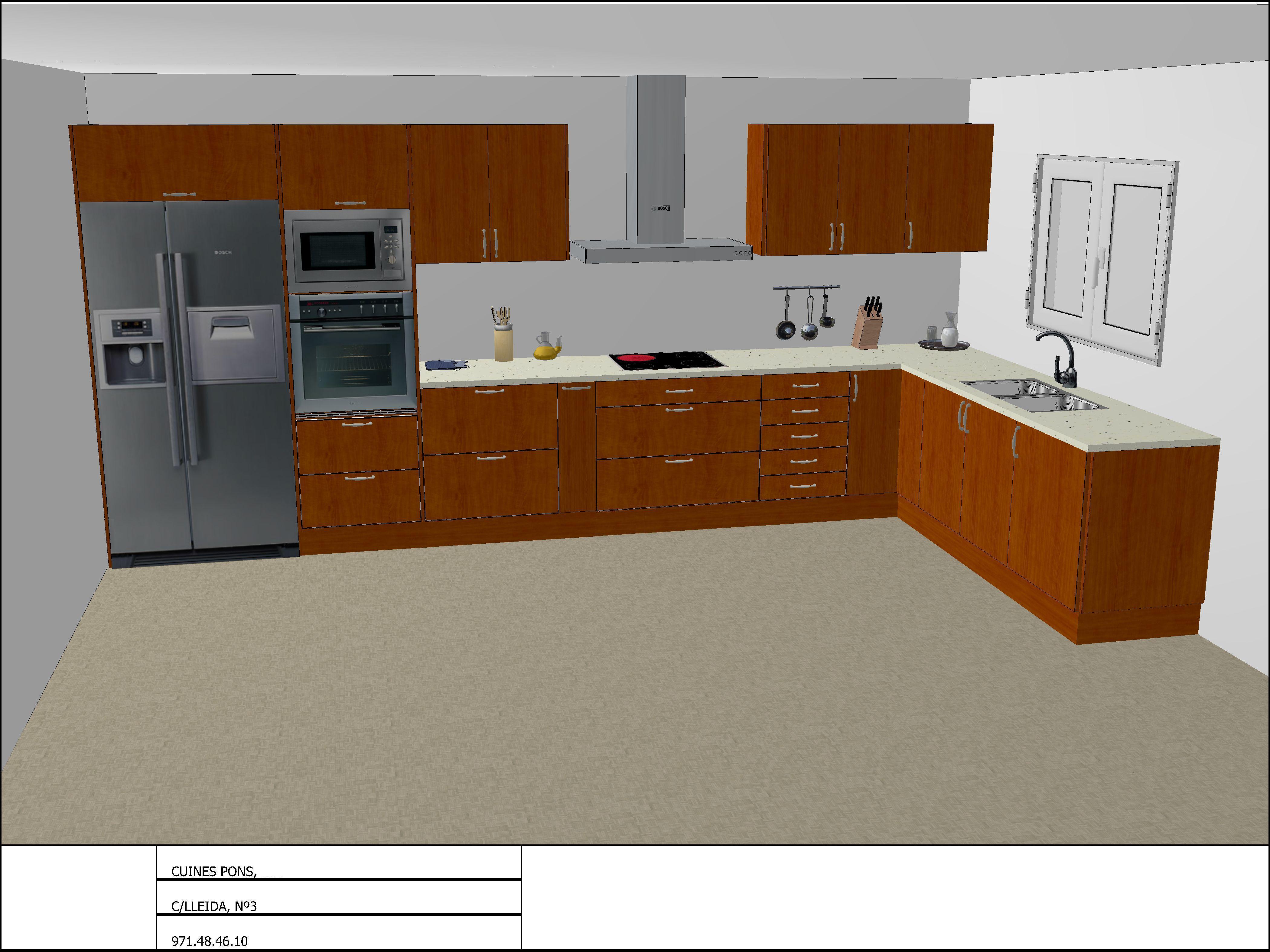 Venta al por mayor diseños de cocinas en 3d-Compre online ...
